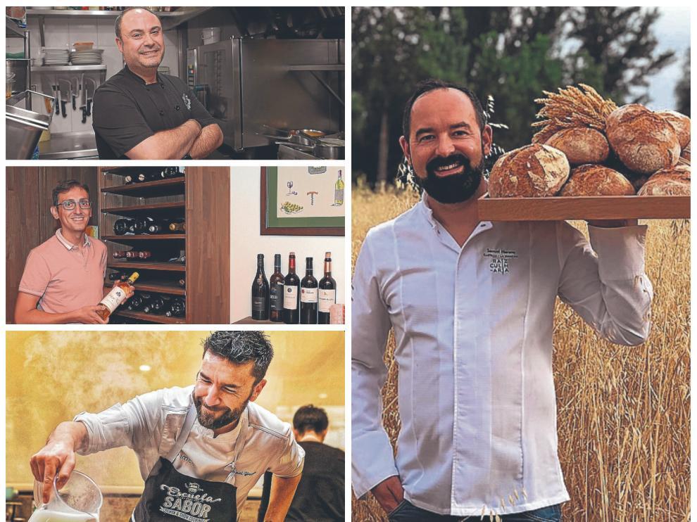 Los chefs que se han formado en al Escuela de Hostelería de Teruel.