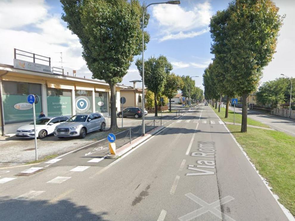 Una de las calles de Maleo, en Italia.