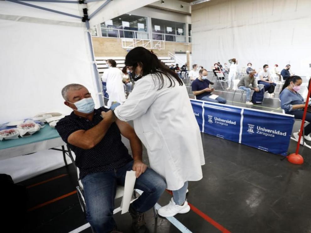 Vacunación en Zaragoza.