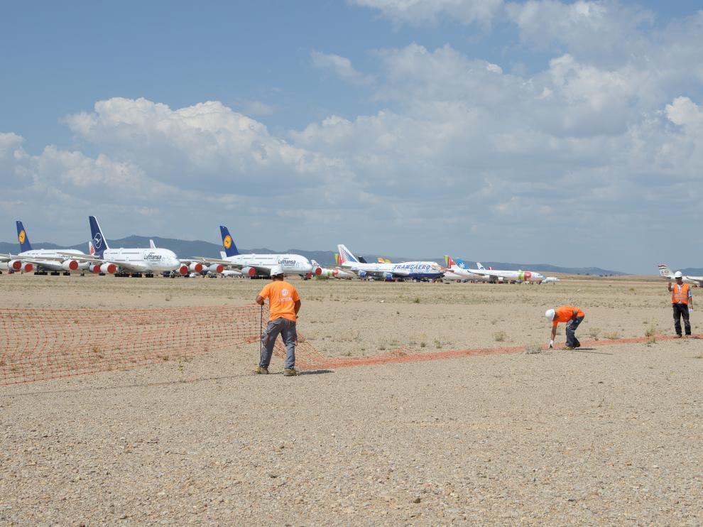 Trabajos iniciales del hangar con capacidad para dos Airbus A380, el avión de pasajeros más grande actualmente.