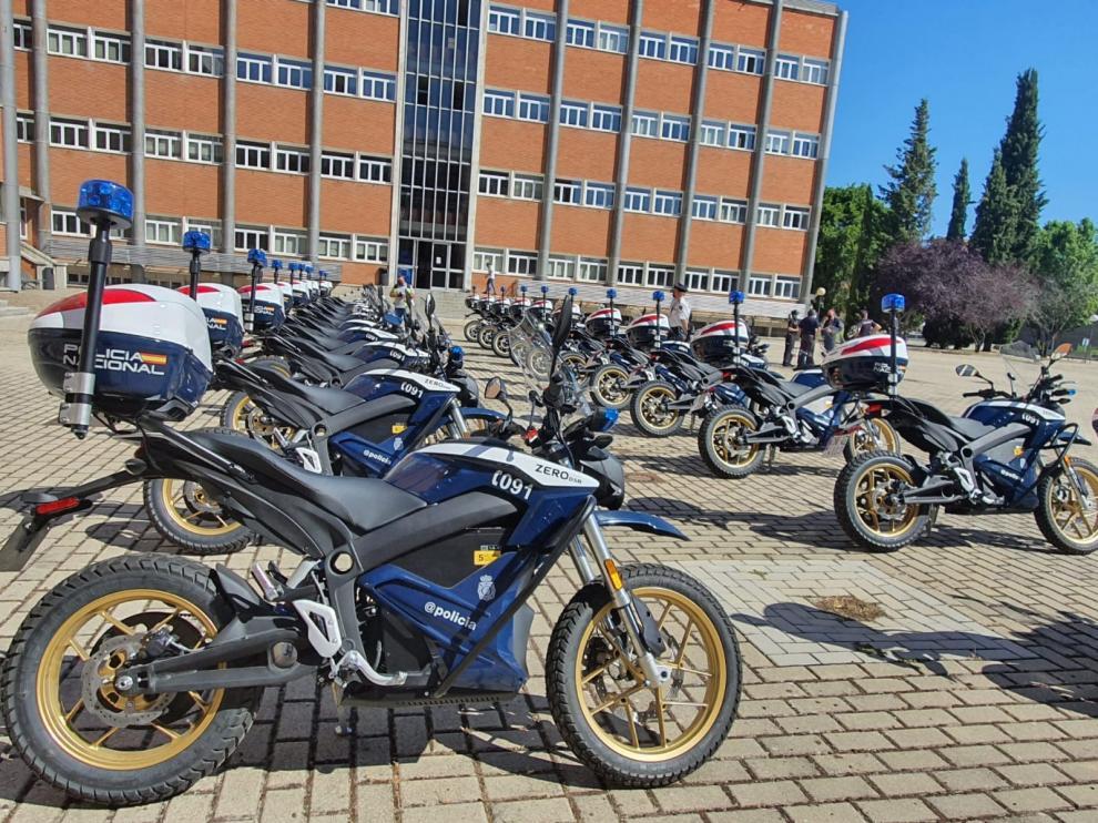 Las nuevas motos eléctricas de la Policía Nacional