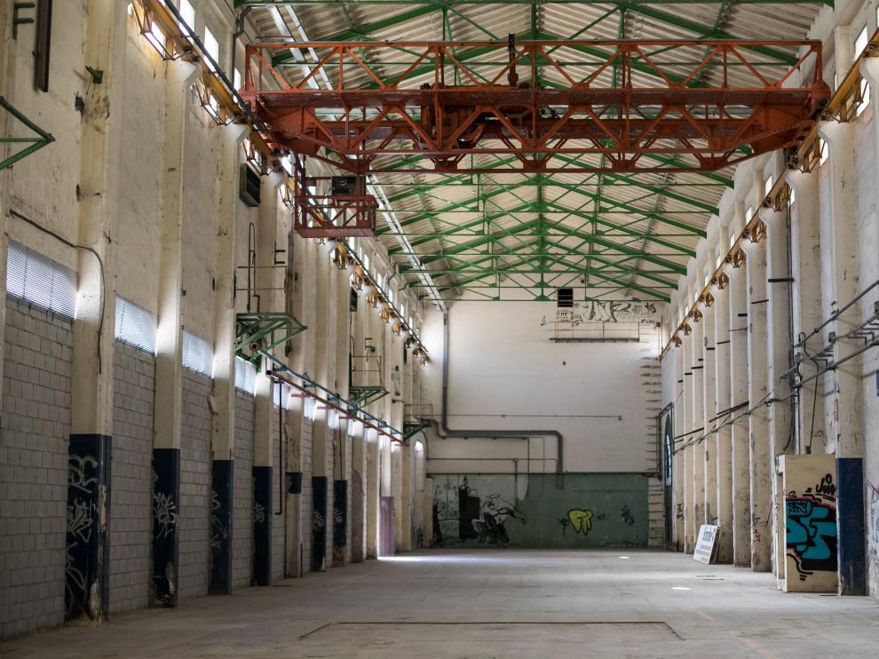 Interior de la fábrica de Giesa, donde el Ayuntamiento prevé un auditorio.