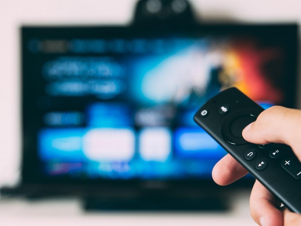 Una televisión en una imagen de recurso.