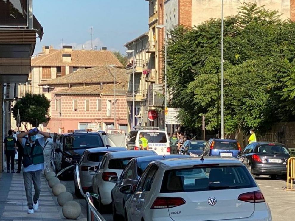 Calle en la que tuvo lugar el crimen machista de Barbastro