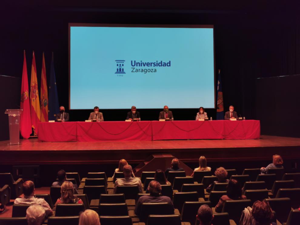 Inauguración de los cursos extraordinarios de verano de la Universidad de Zaragoza en Jaca.