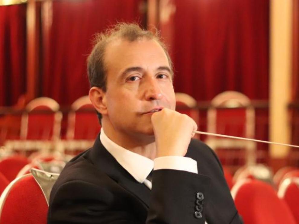El pianista y director de orquesta zaragozano, hace unos días.