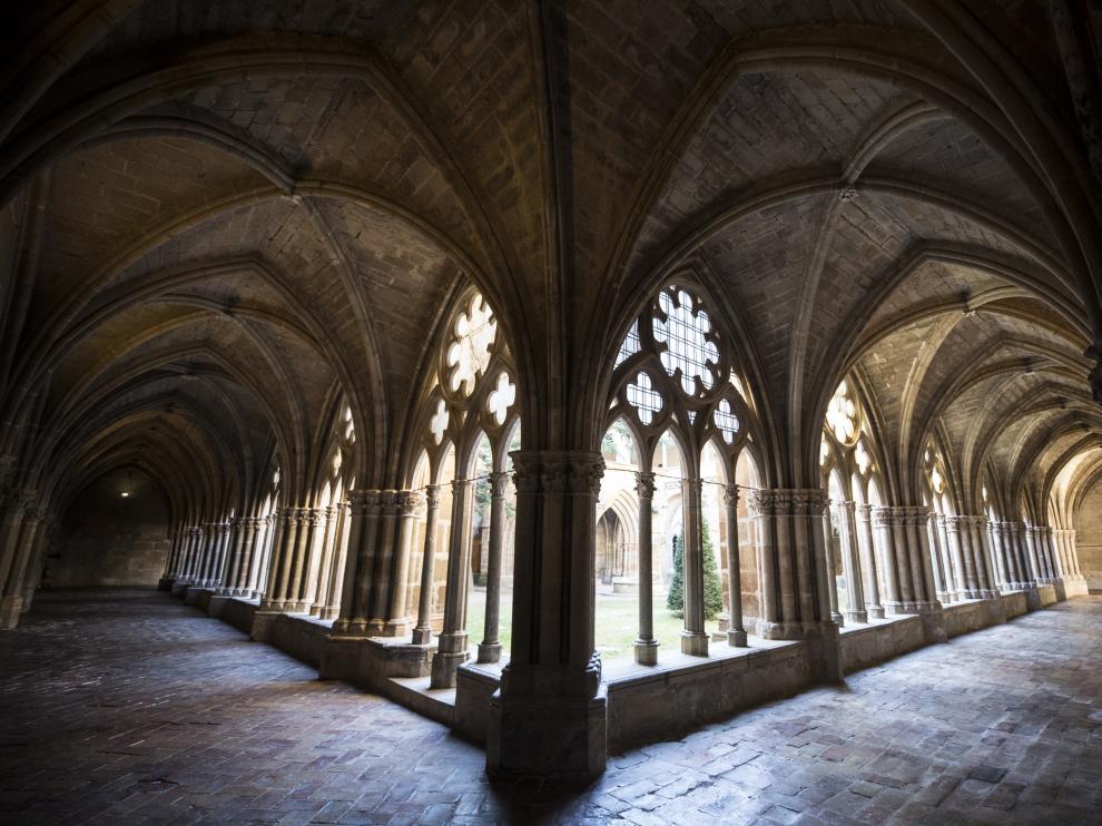 El claustro del Monasterio de Veruela, ubicado a los pies del Moncayo.
