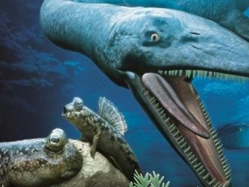 Recreación del la nueva atracción del Mar Jurásico de Dinópolis, que sale a licitación.