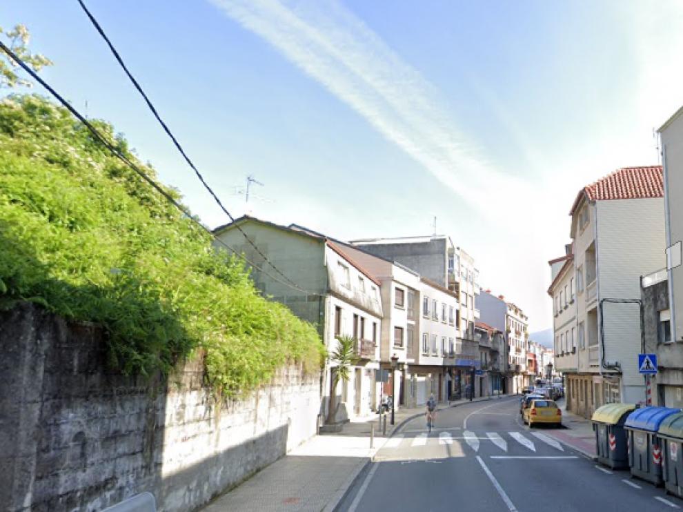 Una calle de Moaña, en Pontevedra.