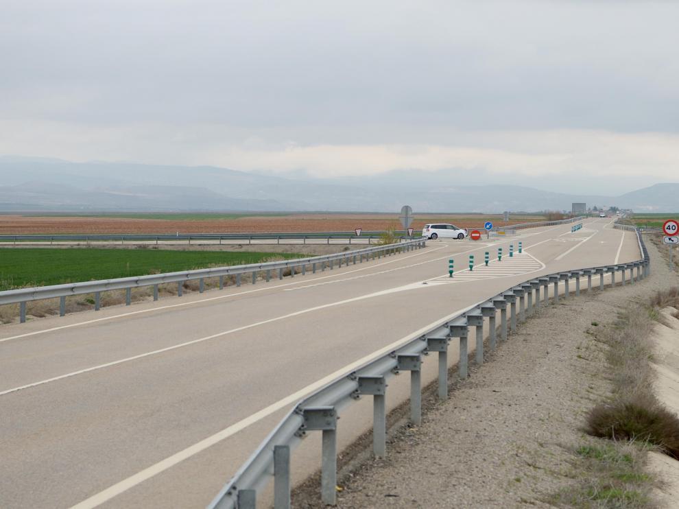 Tramo de la carretera A-1512 en el que se ha registrado el accidente.