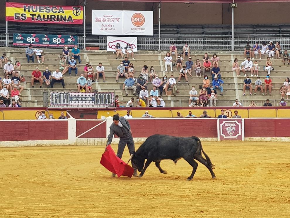 Festejo taurino celebrado la tarde del sábado en la plaza de toros de Huesca.