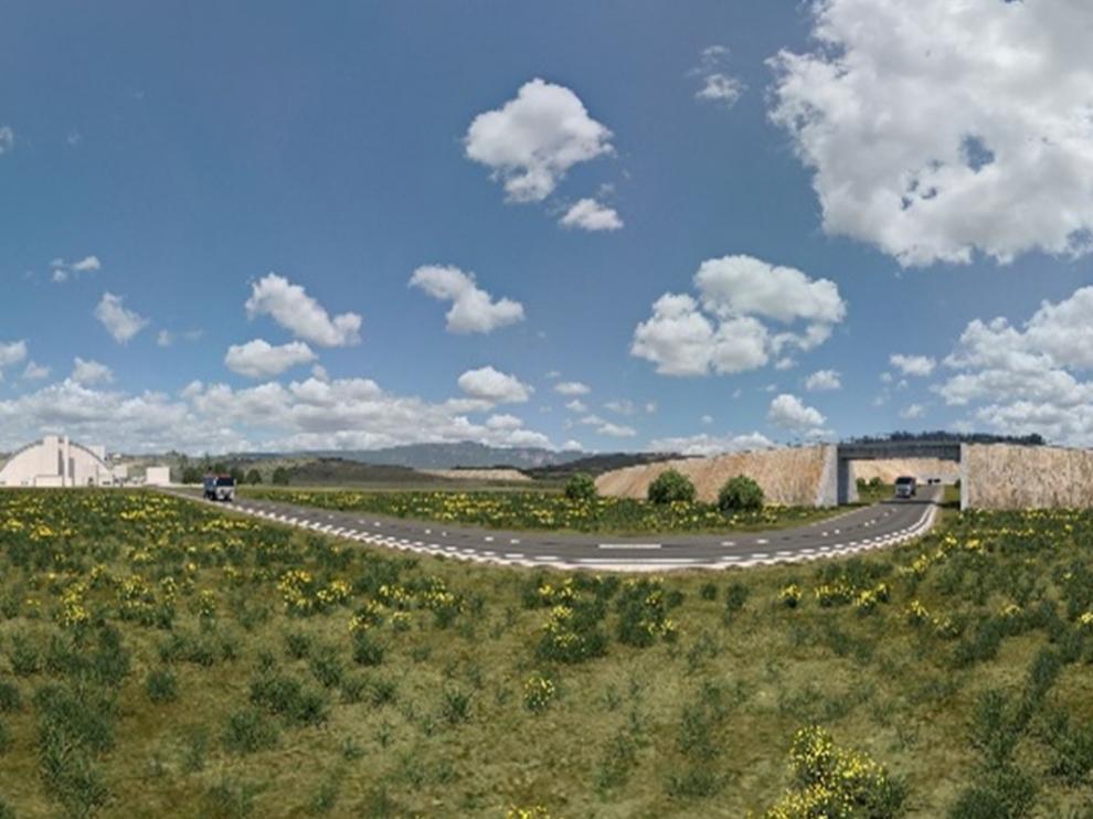 Recreación del proyecto de la mina de potasa Mina muga de Geoalcali (Highfield Resources)