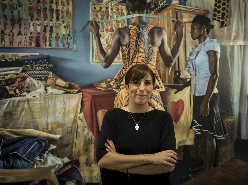 La fotógrafa Ana Palacios, durante la presentación de una muestra suya.