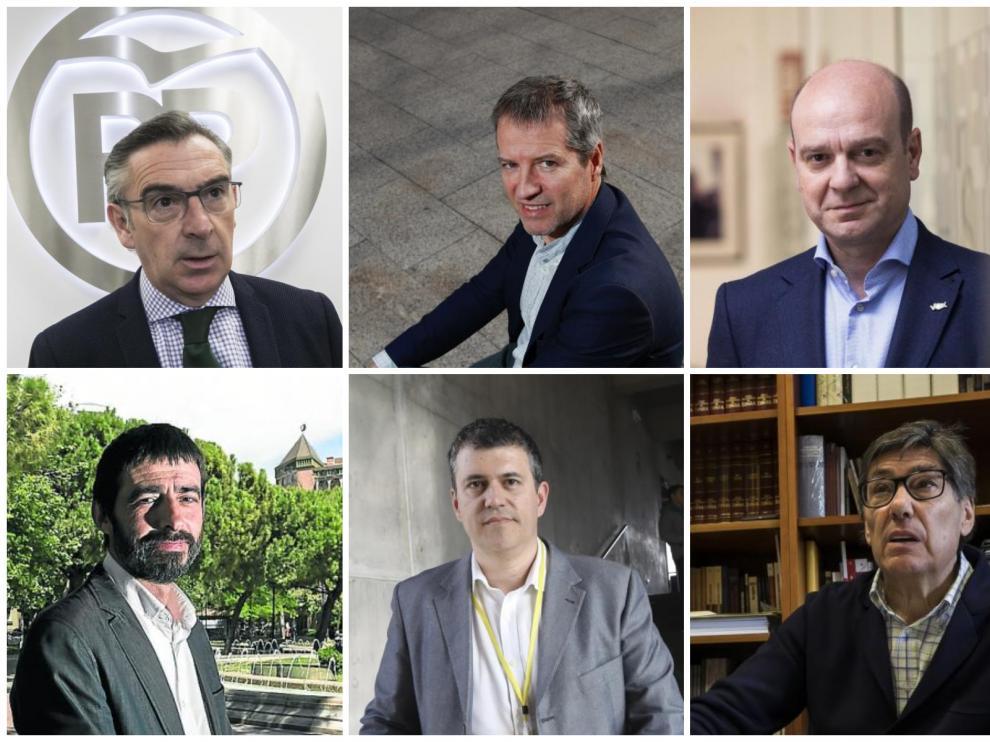 Beamonte, Pérez, Morón, Sanz, Palacín y Aliaga.
