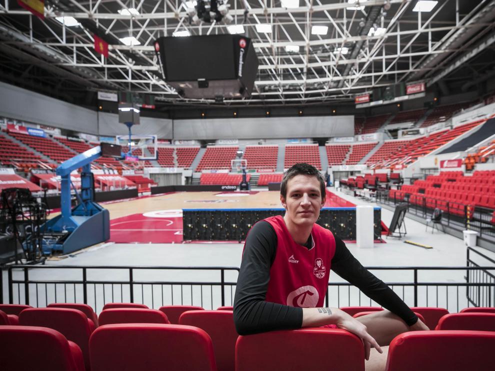 El jugador checo Vit Krejci, en el pabellón Príncipe Felipe.