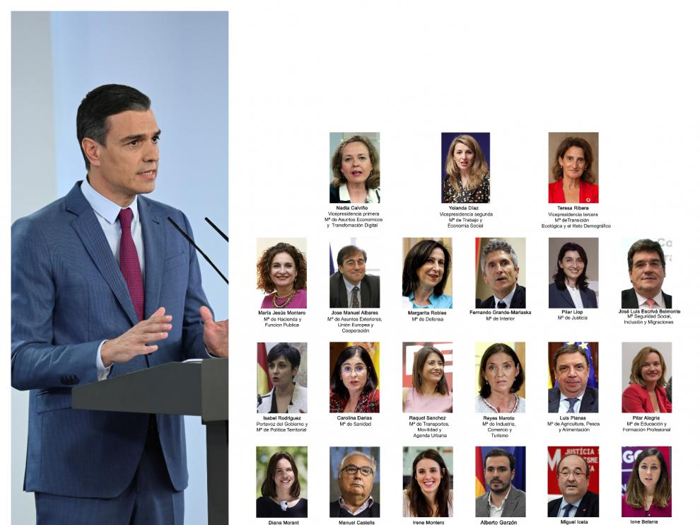 El nuevo gabinete del ministros del Gobierno de Pedro Sánchez
