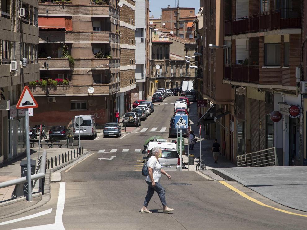 La calle de Sixto Celorrio, en el barrio del Arrabal.