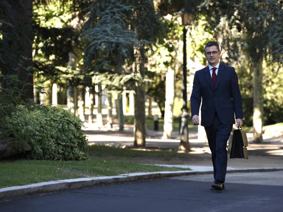 El nuevo ministro de la Presidencia, Relaciones con las Cortes y Memoria Democrática, Félix Bolaños.