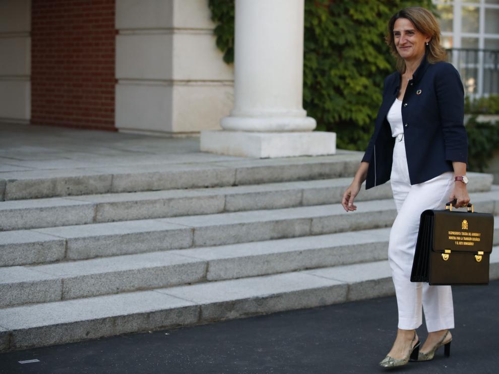 La vicepresidenta tercera y ministra para la Transición Ecológica y el Reto Demográfico, Teresa Ribera.