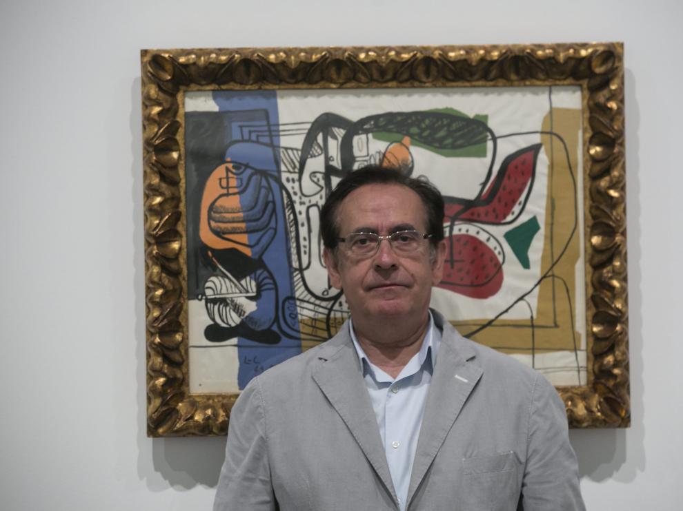 Ricardo García Prats, en el Museo Pablo Gargallo.