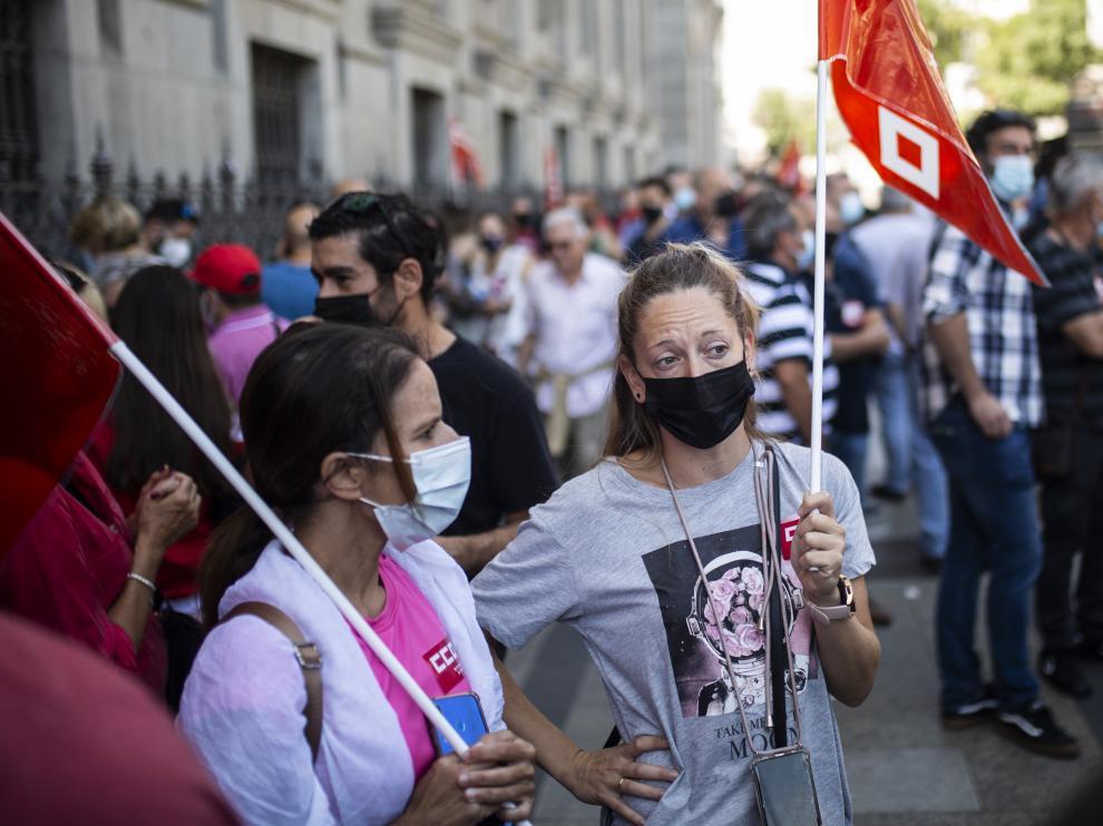 Protesta de los sindicatos