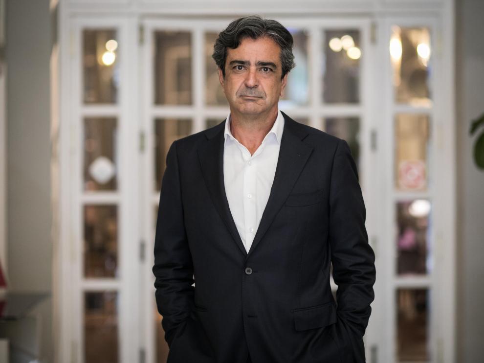 Carlos Relancio, en una reciente visita a Zaragoza.