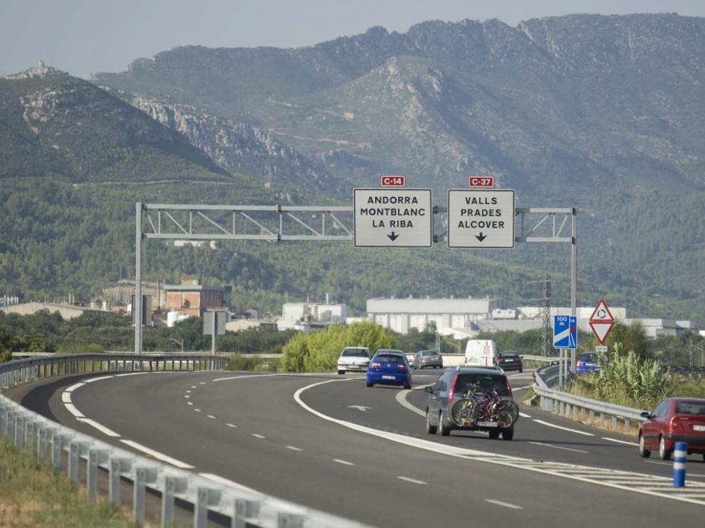 Ruta en carretera de Aragón a Tarragona.