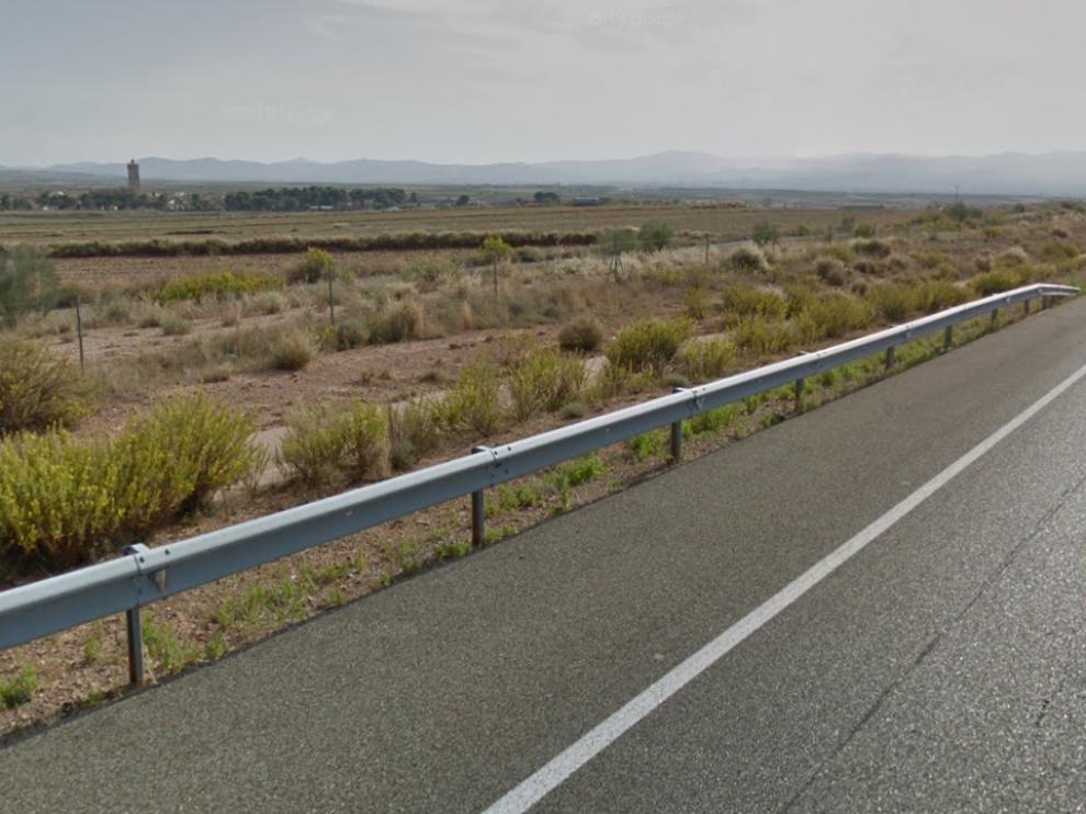 Autovía Mudéjar a la altura de Longares