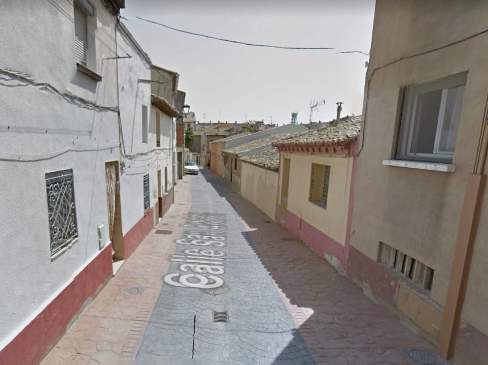 Imagen de la calle de San Andrés de Ejea