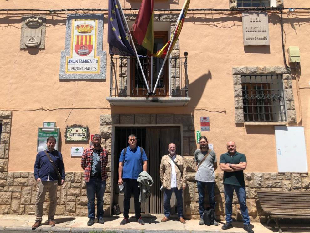 Palacín, junto al alcalde Jordi Lorenzo y demás dirigentes institucionales.