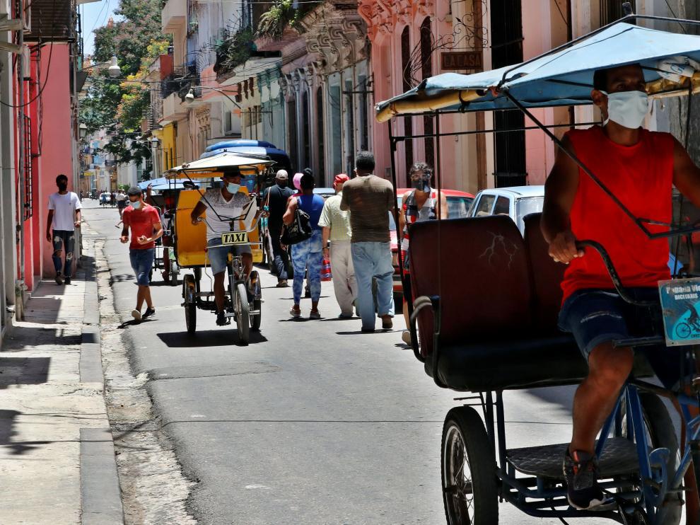 Una calle de La Habana vieja, este jueves