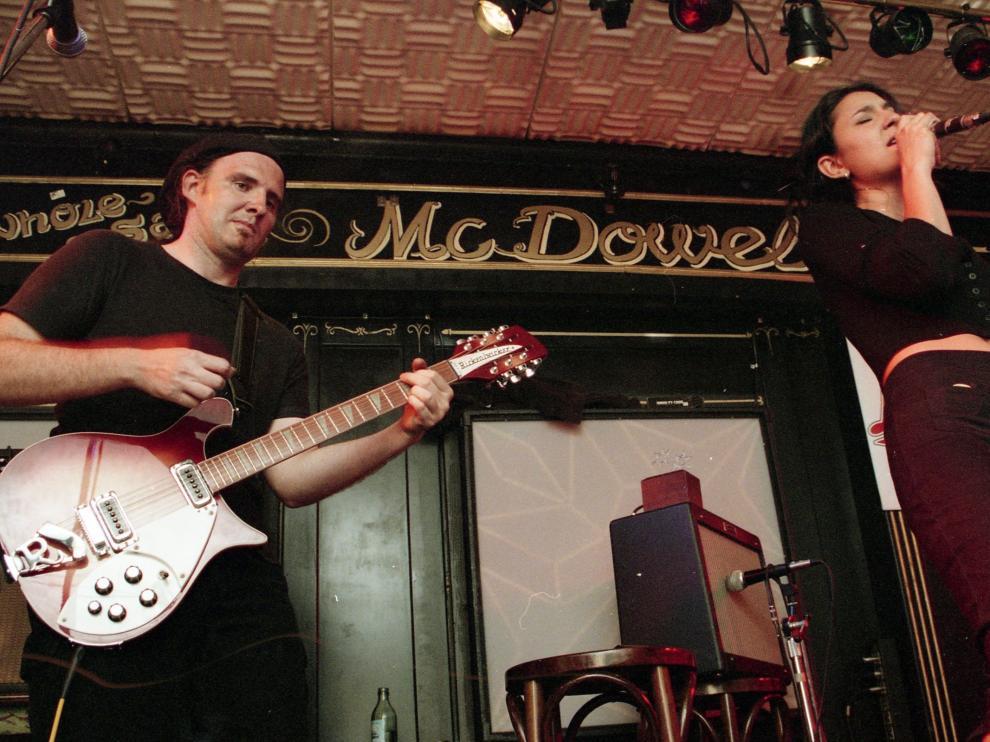 Amaral, en el concierto del 18 de mayo de 1995 en la sala Morrissey de Zaragoza.