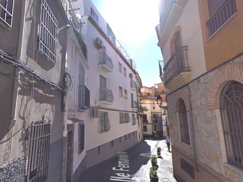 Calle de Fernando IV de Jaén, donde tuvieron lugar los hechos