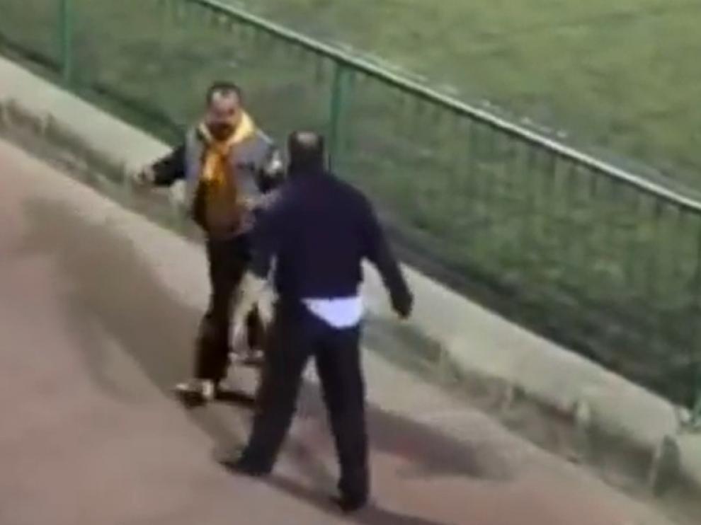 Captura del vídeo de la agresión