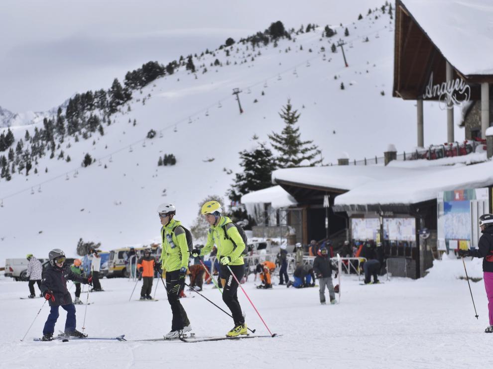 Instalaciones de la estación de esquí de Formigal.