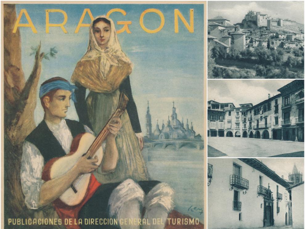 Folleto turístico dedicado a Aragón, editado por la Dirección General de Turismo, circa 1951