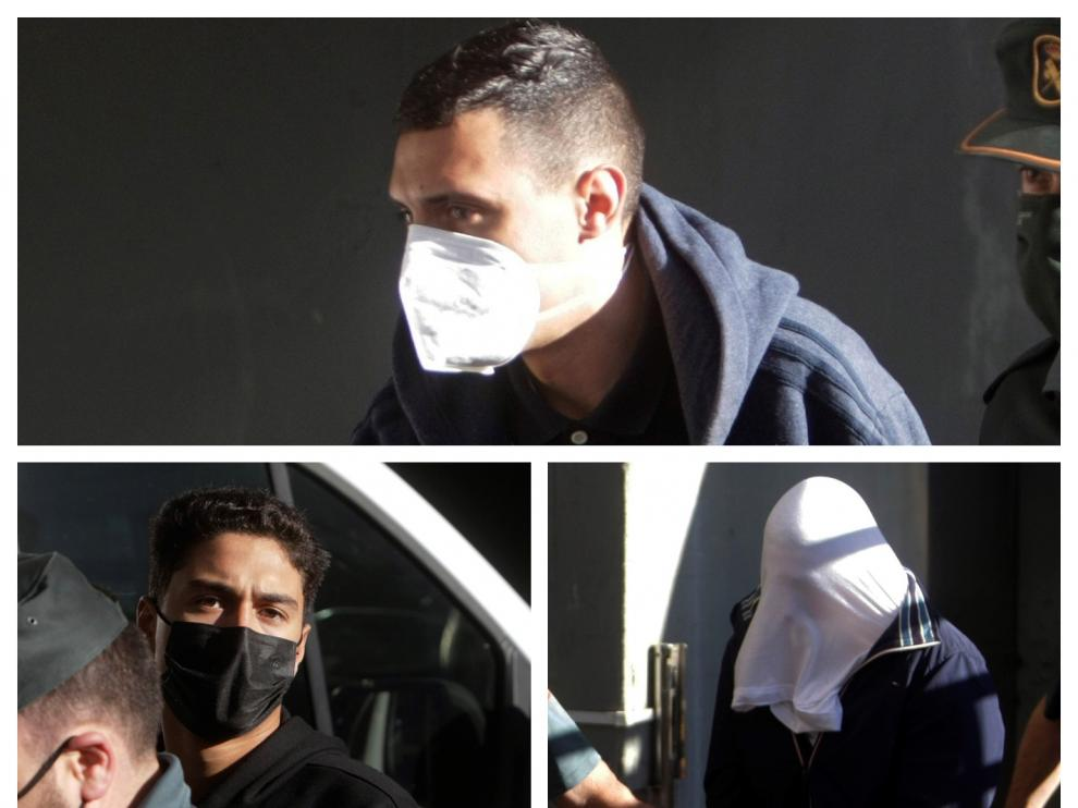 Los detenidos a su entrada al juzgado