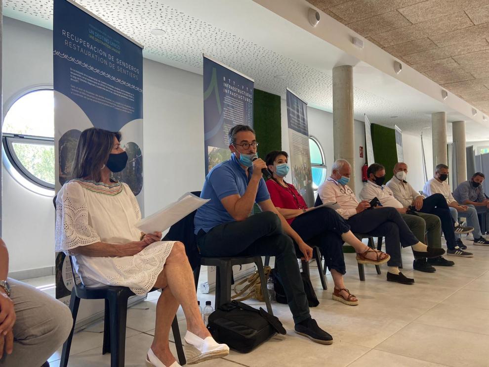 Participantes en la clausura del proyecto, celebrada en el Centro Cultural de Aínsa.