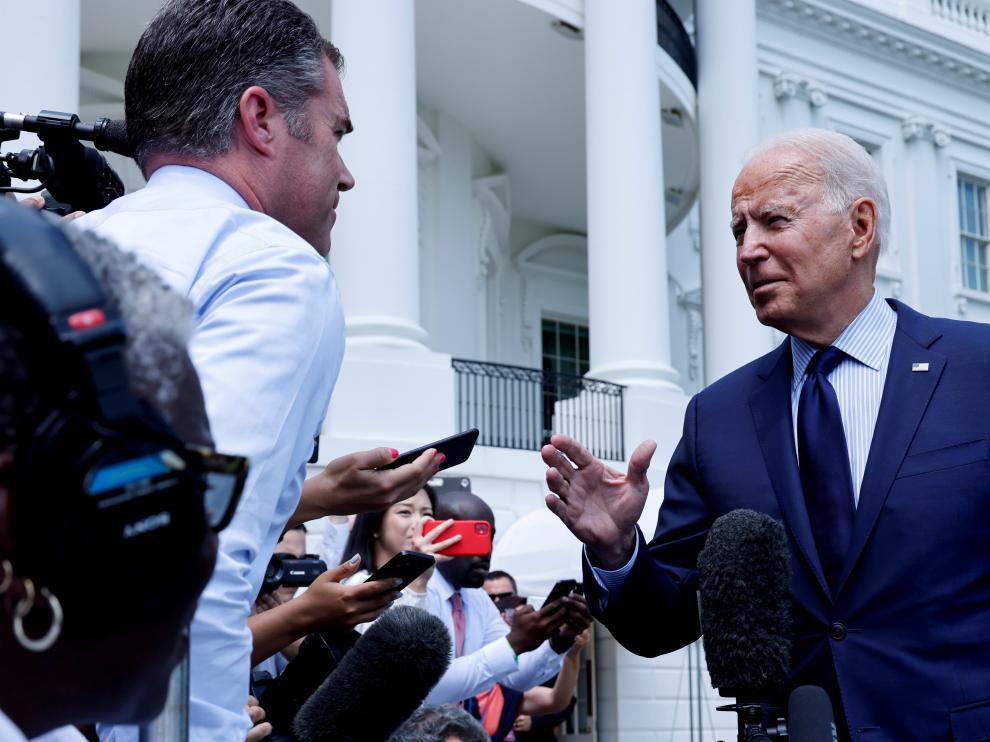 U.S. President Joe Biden departs for a weekend visit to Camp David