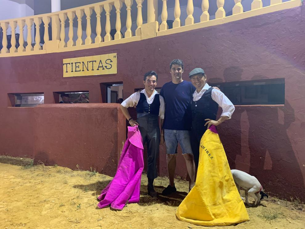 El torero aragonés Imanol Sánchez se cuela en Ambiciones, la finca de Jesulín de Ubrique.