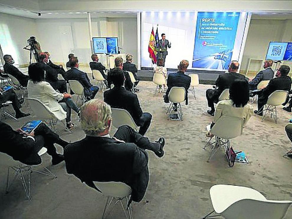 Pedro Sánchez, en la presentación del Perte de automoción el pasado 12 de julio.