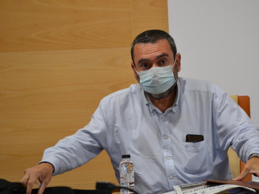 El presidente de la comarca Campo de Cariñena, José Luis Ansón, en el último pleno, celebrado el pasado día 9.