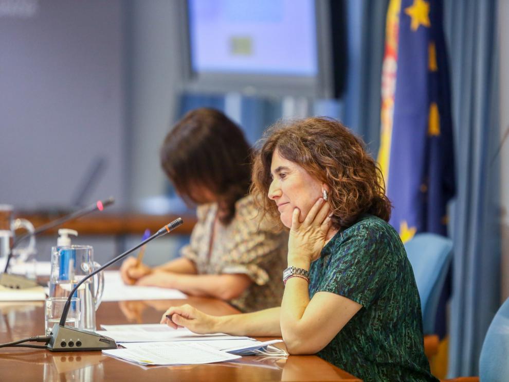 María José Sierra, jefa del área del Centro de Coordinación de Alertas y Emergencias Sanitarias, durante la rueda de prensa