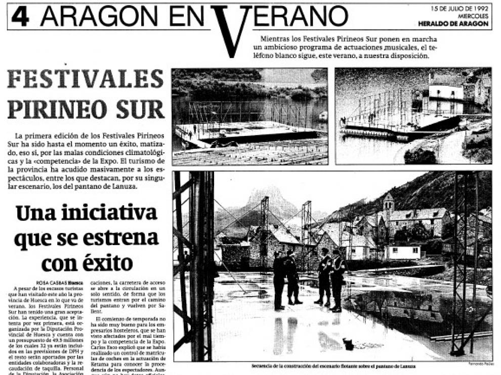 Información de HERALDO sobre el montaje del escenario flotante de Lanuza.
