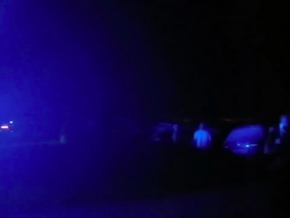 Una imagen del desalojo de la fiesta ilegal en Vejer.