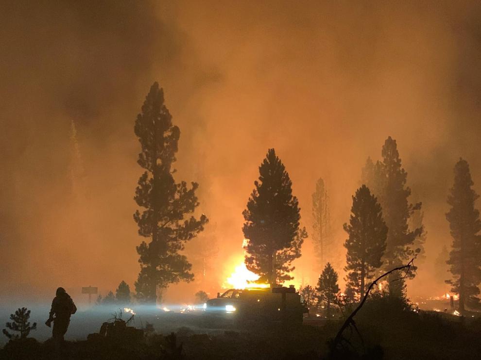 Bootleg Fire in southern Oregon, USA