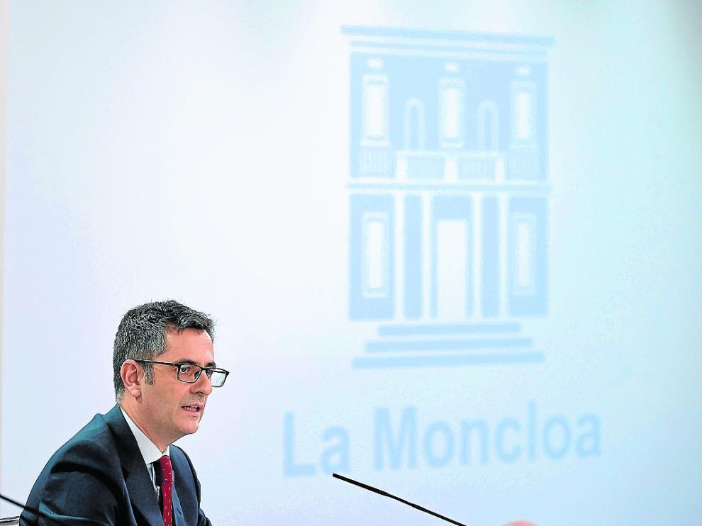 El ministro Bolaños presentó ayer el proyecto de Ley de Memoria Democrática