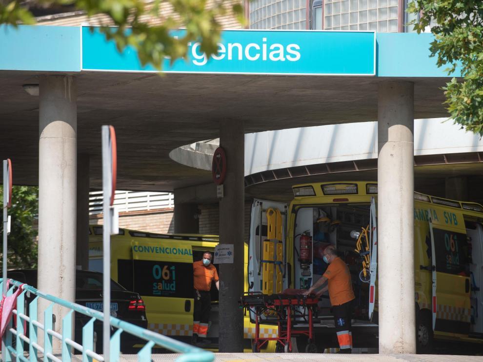 Exterior de las urgencias del Clínico de Zaragoza
