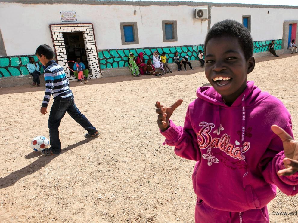 Niños saharauis en los campamentos de Tindouf (Argelia).