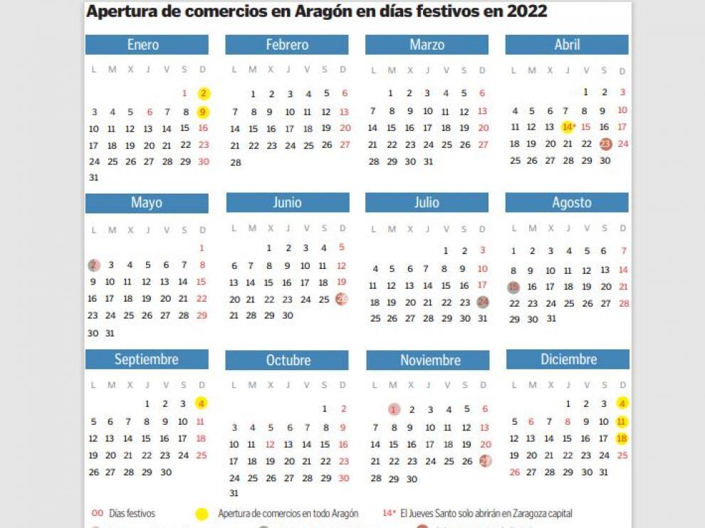 Calendario de festivos comerciales